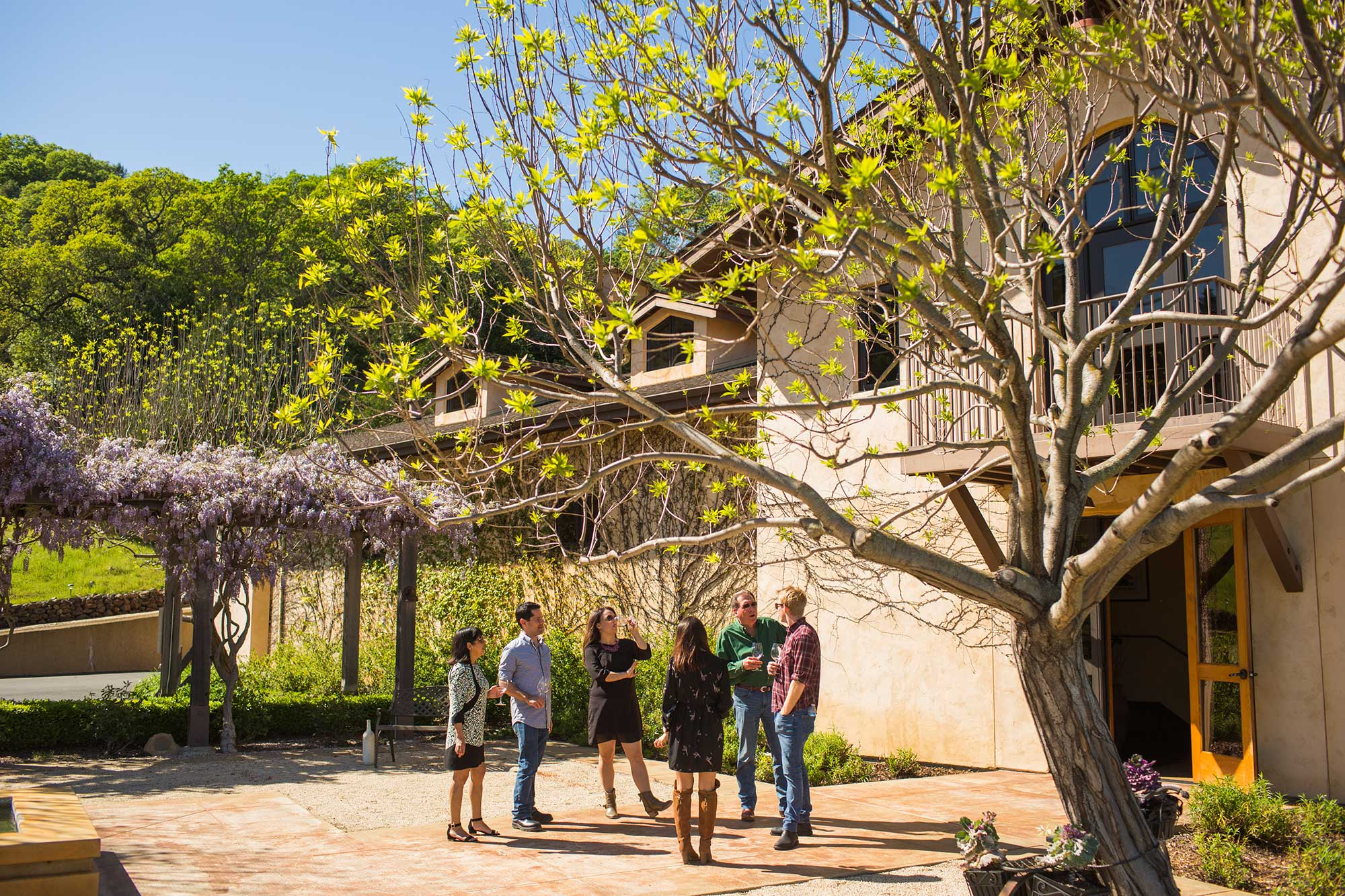 The grounds at Keever Vineyards in Yountville, California