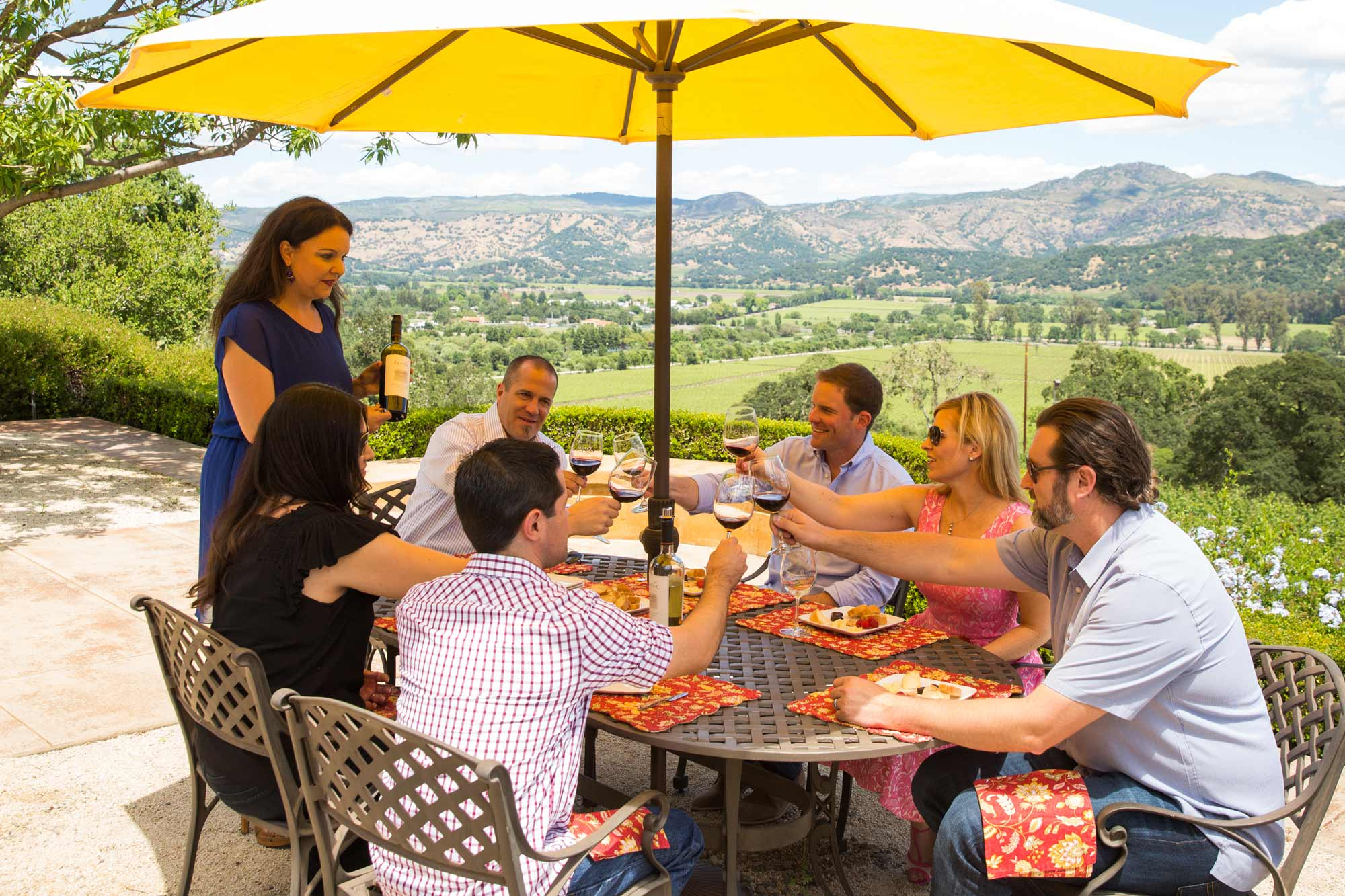 A Wine Society group tasting at Keever Vineyards in Yountville, California - Napa Valley
